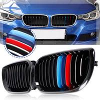 Pair Matte Black M Color Kidney Grille Grill For BMW 3 Series E90/E91 2009 2010 2011 Car Styling Racing Grills