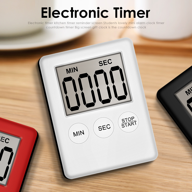 Details about  /Digital Magnetic Kitchen Timer Electronic Countdown LCD Cooking Fridge Magnet