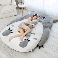 Супер большой 180x250 см Мой сосед Тоторо татами спальный двойной кровать погремушка диван для взрослых теплый мультфильм татами спальный мат