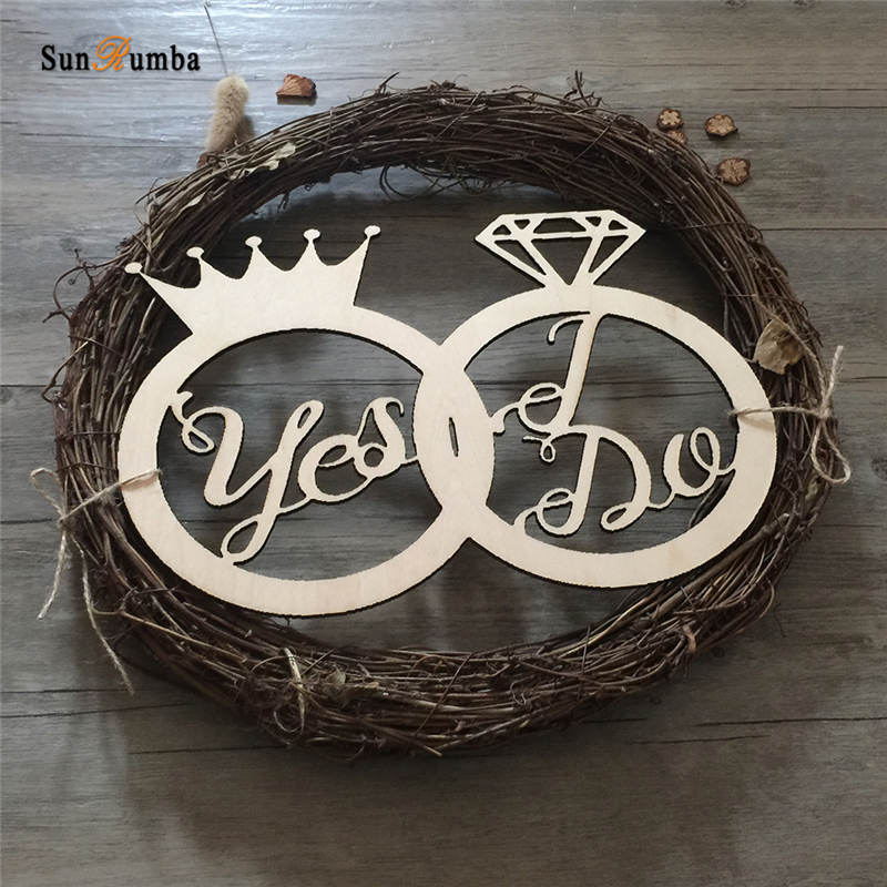 Personalized Wedding Photo Props Sign Wooden Wedding Decoration Unique Party Gifts Photobooth Props Table Decor Hanging Signs in Party DIY Decorations from Home Garden