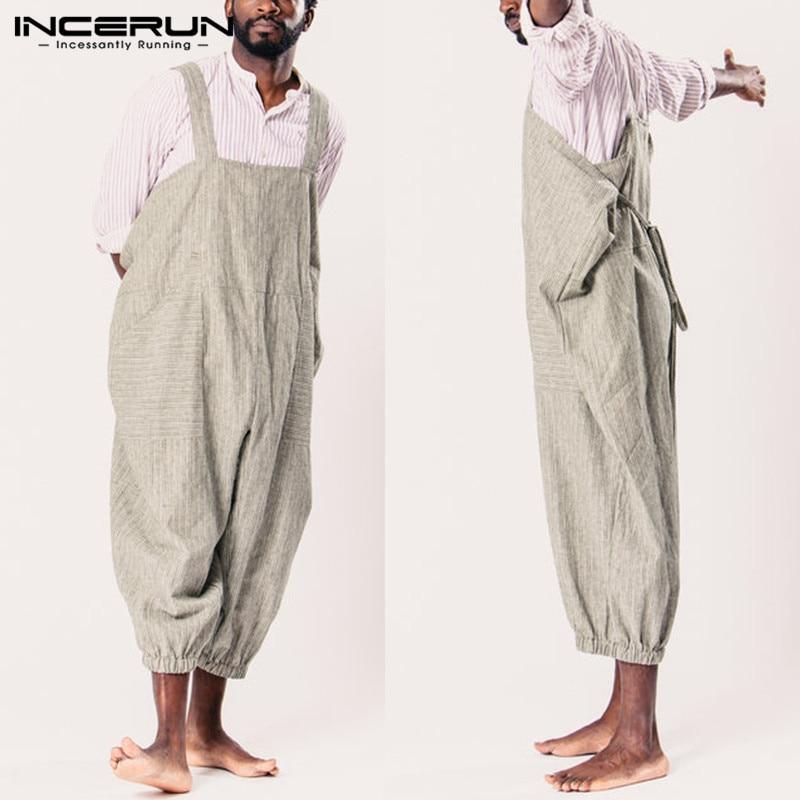 Retro Cowboy Men Women Jumpsuits Dungarees Plain Casual Overalls Rompers Baggy Trouser Wide Leg Pants Working Overalls Garment