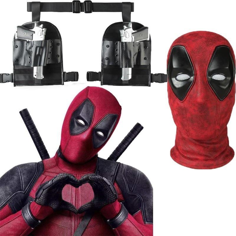 Film Deadpool Wade Winston Wilson Cosplay Costume Halloween adulte masque accessoires ceinture étui arme pistolet accessoires cuir fête