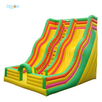 High Performance Inflatable Slide Giant Inflatable Water Park Slide For Game
