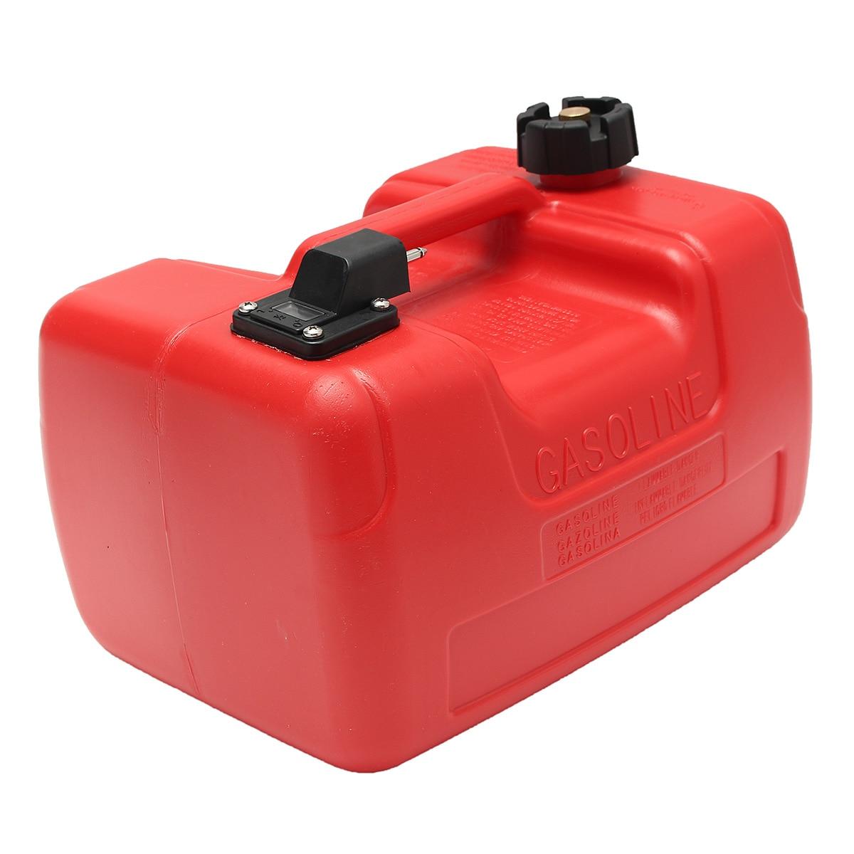 Boîte à huile extérieure Marine de réservoir de carburant de moteur de Yacht de bateau de 12L Portable avec le plastique rouge de connecteur Anti-statique résistant à la Corrosion - 3