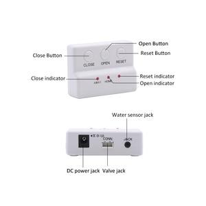 Image 3 - WLD 805 Hidaka su kaçak sensörü Alarm sistemi ev güvenlik için otomatik kapanma ile DN15 DN20 DN25 vana su kaçak dedektörü