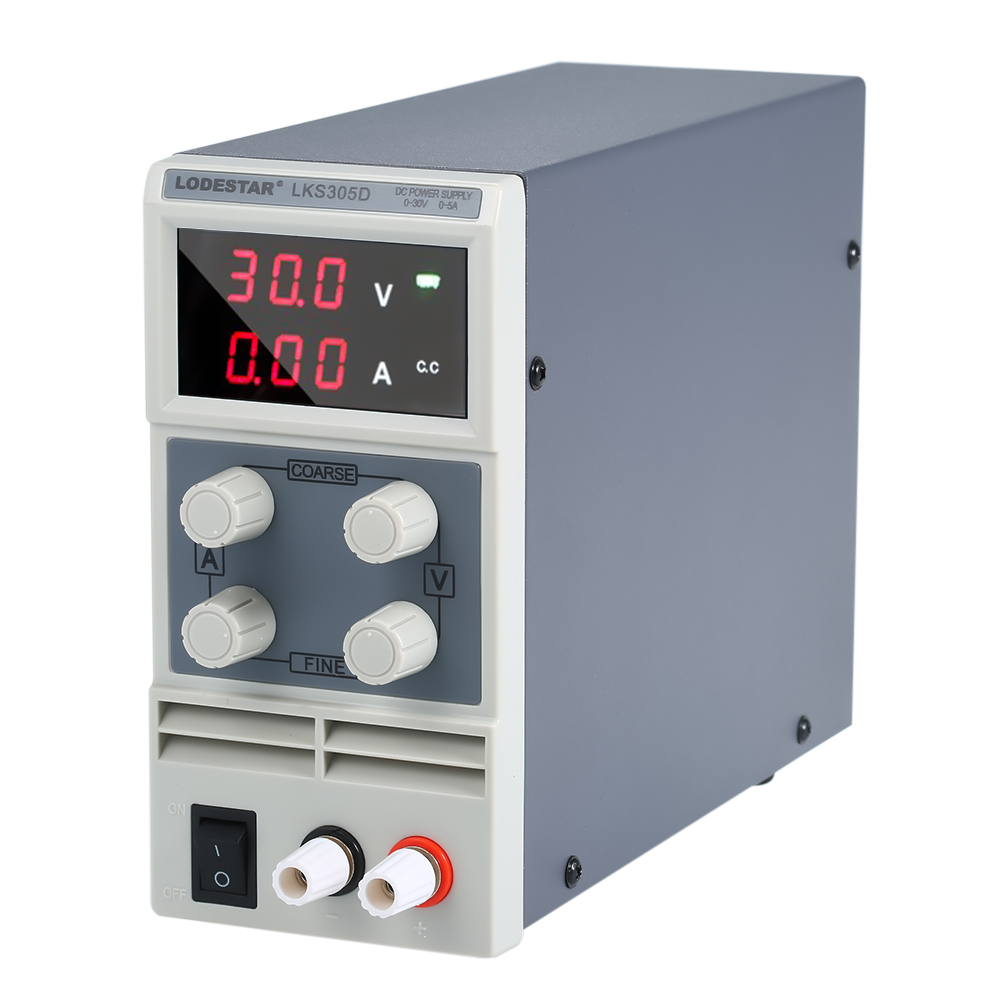 LODESTAR Switching For DC Power Supply 3 Digits Display LED 0 30V 0 10A High Precision Adjustable Mini Power Supply AC 110V/220V