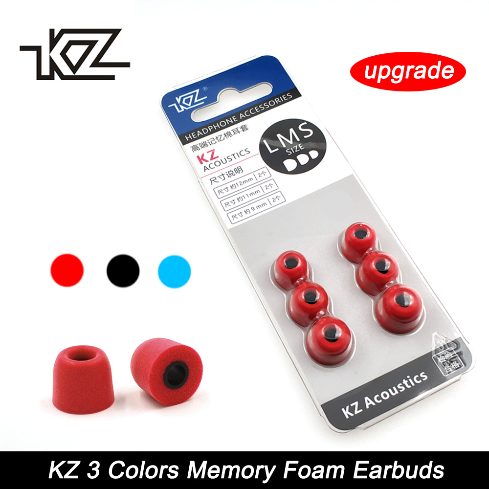 KZ New Upgrade Original 3Pair(6pcs) Noise Isolating Comfortble Memory Foam Ear Tips Ear Pads Earbuds For In Earphone Headphones
