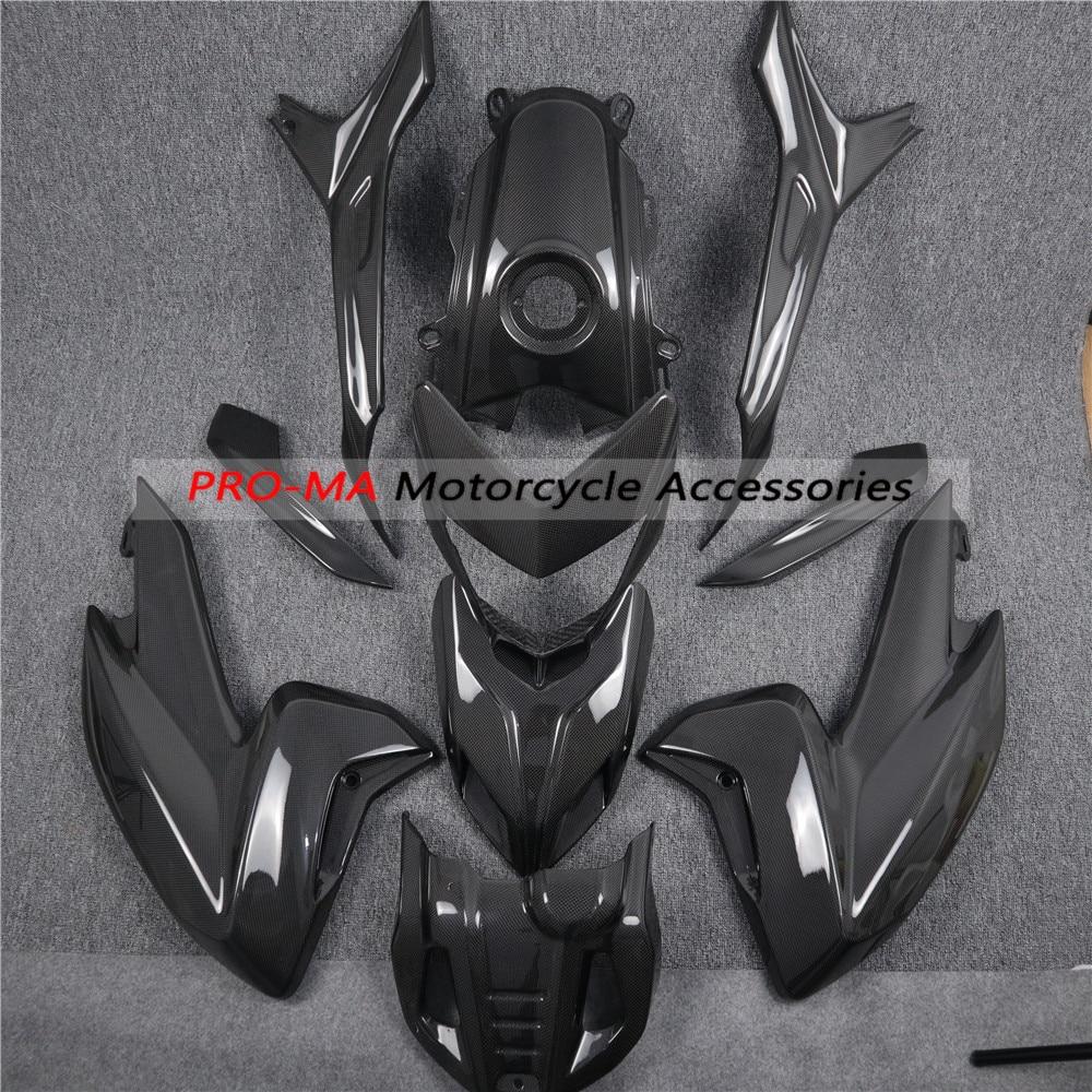 For Ducati Hyperstrada, Hypermotard SP 821 939 Carbon Fiber Fairing Kits (custom Made Plain Glossy Weave)
