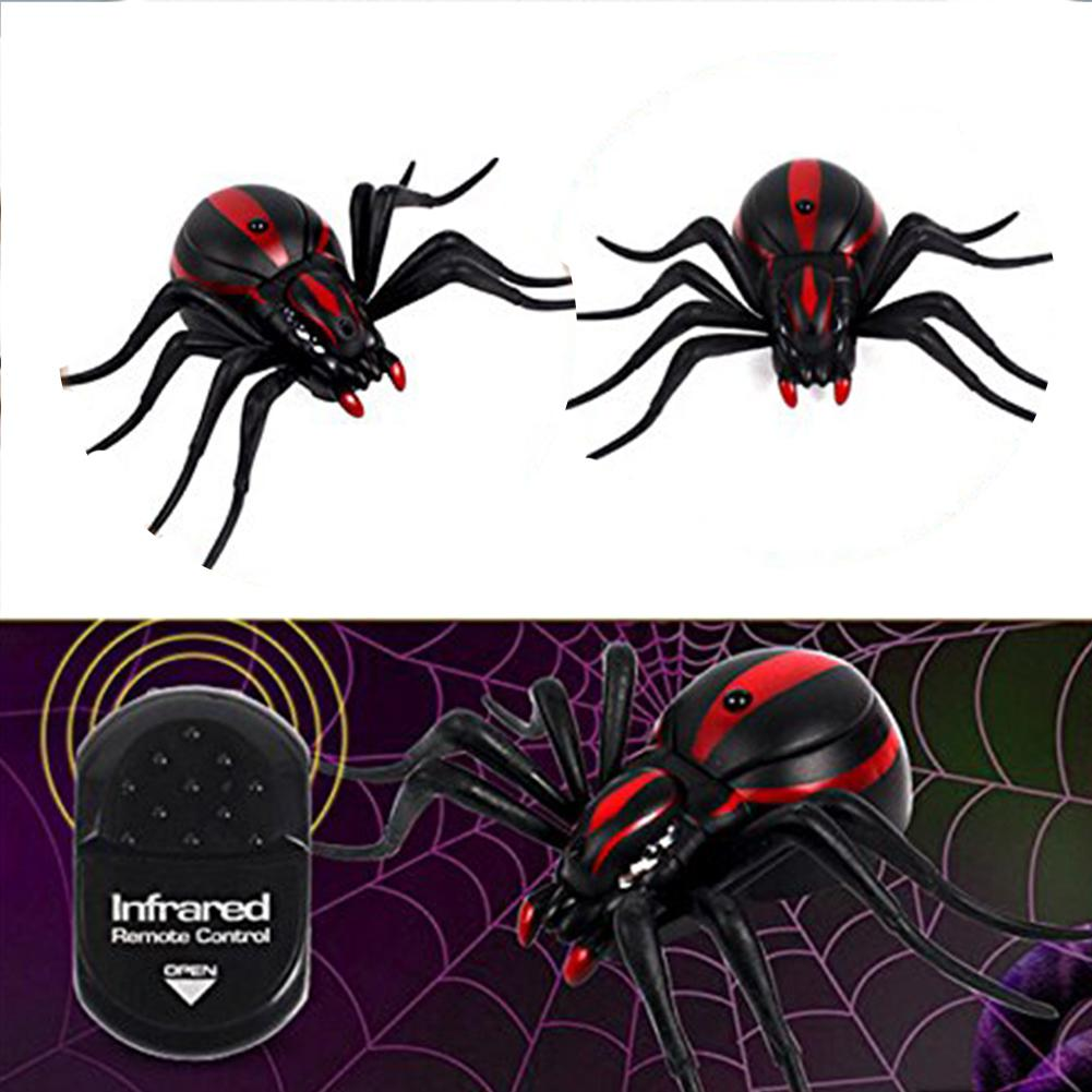 Kids Creative Toys The Entire Toy Vivid Simulation Infrared Remote Control Black Spider in Gags Practical Jokes from Toys Hobbies