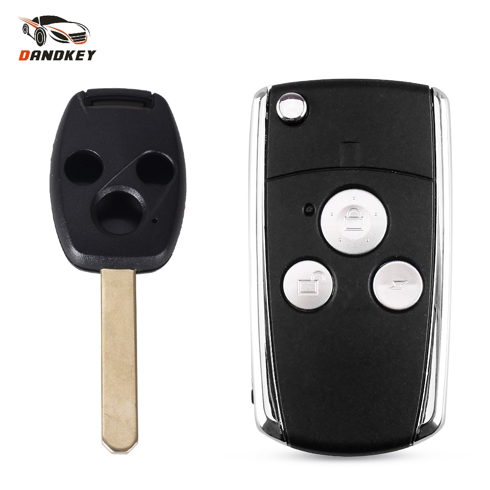 Dandkey Modified <font><b>Flip</b></font> Folding 3 Button <font><b>Remote</b></font> Key Shell Case Fob Keyless For <font><b>Honda</b></font> Jazz CRV Odyssey Civic <font><b>Accord</b></font> Key key shell image