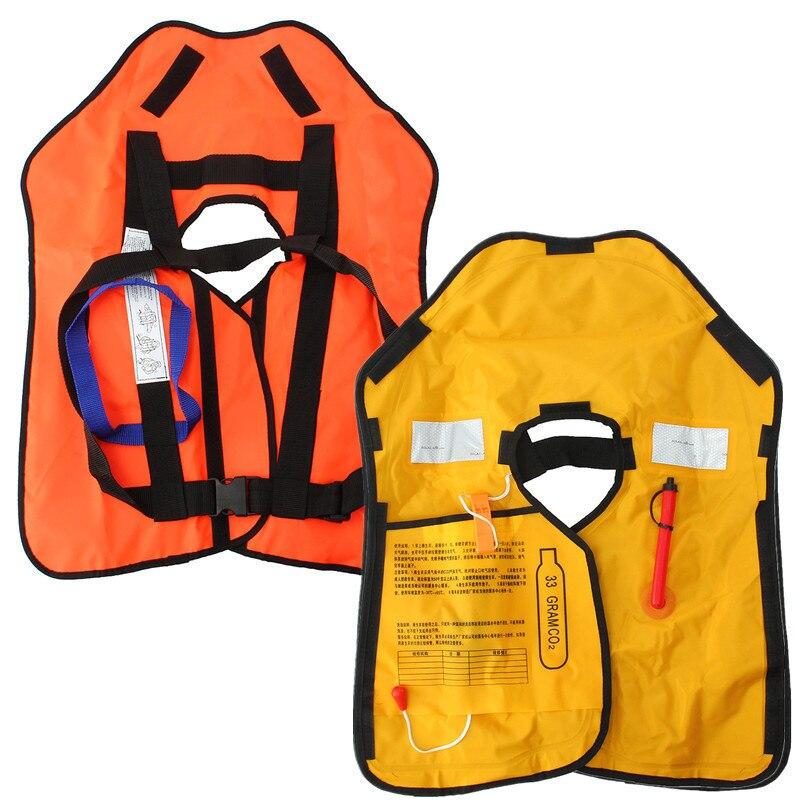 Natación para adultos Chaleco de pesca La vida automática superior inflable  rescate chaleco flotabilidad kayak mujer hombre vida piscina en Chaleco ... 372541a61829