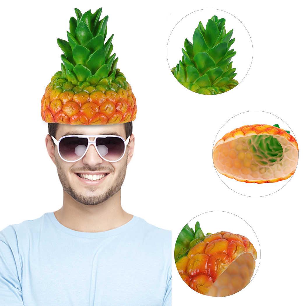 Карнавальные вечерние креативные милые смешные силиконовые иммитация шляпы клубника, ананас дракон фрукты шляпа маскарадное платье реквизит