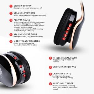 Image 5 - HANXI cuffie con cancellazione del rumore bassi profondi cuffie Stereo senza fili Bluetooth cuffie da gioco pieghevoli con microfono