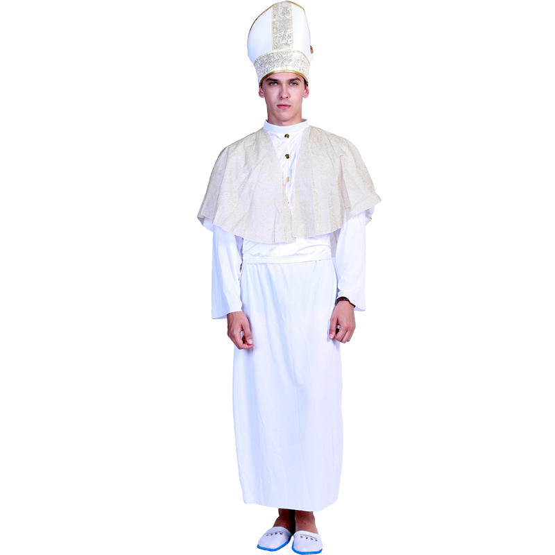 Men Medieval Ancient Rome Royal Court Costume Cosplay Halloween Carnival Party Adult Church Clothing