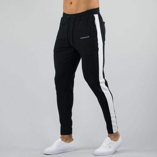 a7c0527c71 Los nuevos hombres Slim urbano pierna recta pantalones Jogger elástico  Mediados de cintura pantalones de lápiz