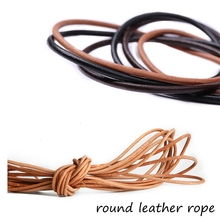 купить Vegetable tanned  layer round flat square leather rope diy handmade leather product по цене 521.05 рублей