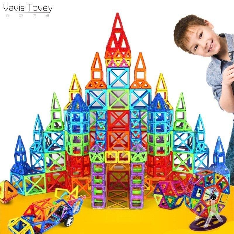 TOTOTOY Vavis Tovey Standard bricolage aimant tirant des blocs de construction magnétiques assemblés jouets enfants cadeau