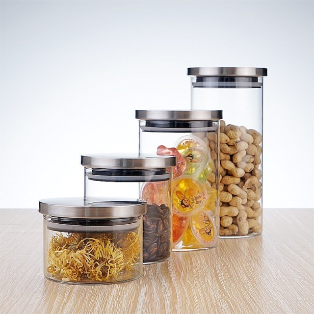 Conscious Home Glass X Stainless Steel Storage Canisters