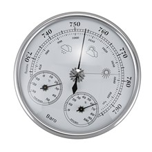 HLZS Wall Mounted Household Thermometer Hygrometer High Accuracy Pressure Gauge Air Weather Instrument Barometer