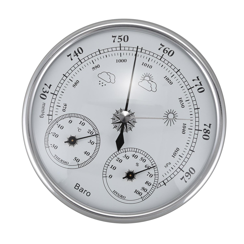 HLZS-montado en la pared del hogar del higrómetro del termómetro de alta precisión medidor de presión de aire tiempo instrumento barómetro