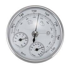 مقياس حرارة منزلي مثبت على الحائط HLZS مقياس للرطوبة عالي الدقة مقياس الضغط مقياس الطقس الجوي