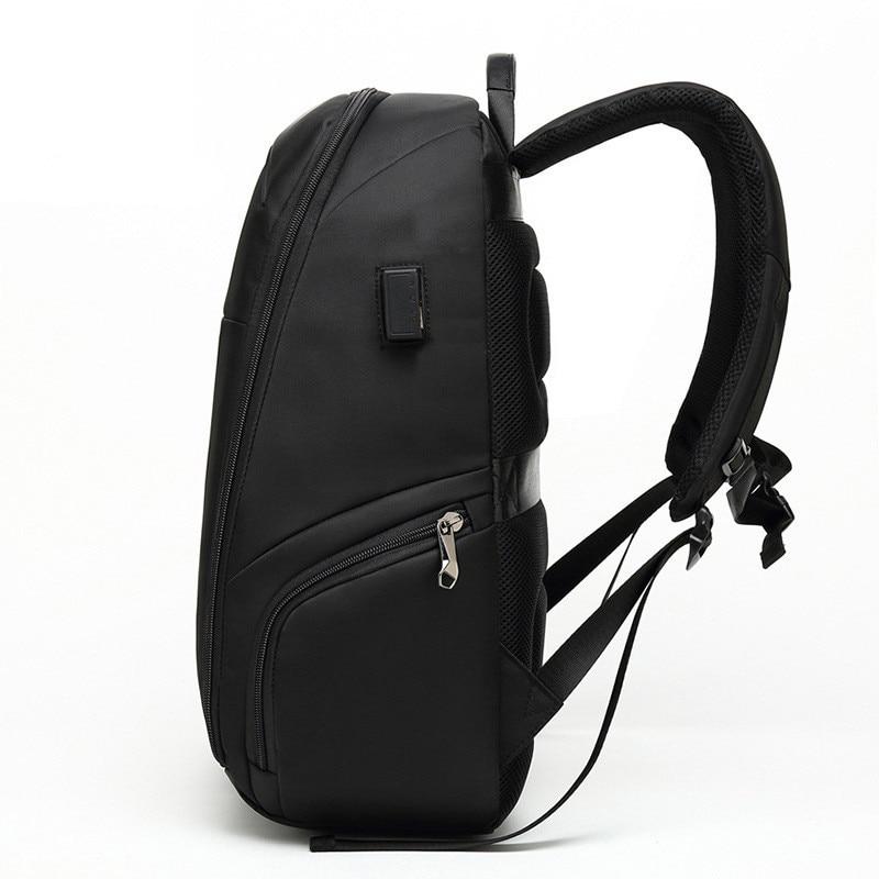 VM Модный деловой мужской 15,6 рюкзак для ноутбука для мужчин, студенток, женщин, школьный рюкзак с двумя плечиками, usb зарядка, рюкзаки для путе... - 4