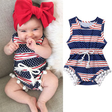 super Hero Movie Image Infant Baby Girl 4th of July Outfits