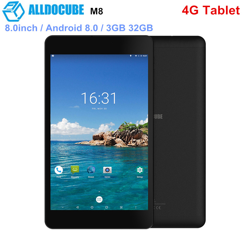 ALLDOCUBE M8 4G Tablet PC 8.0inch Android 8.0 MTK X27(MT6797X ) Deca Core 3GB 32GB 5.0MP Rear Carmea 5500mAh Tablets 4G LTEALLDOCUBE M8 4G Tablet PC 8.0inch Android 8.0 MTK X27(MT6797X ) Deca Core 3GB 32GB 5.0MP Rear Carmea 5500mAh Tablets 4G LTE