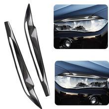 1 шт автомобилей Стикеры углеродного волокна для автомобильных фар Крышка лампы брови для BMW X5 F15 2014-2017 авто аксессуары