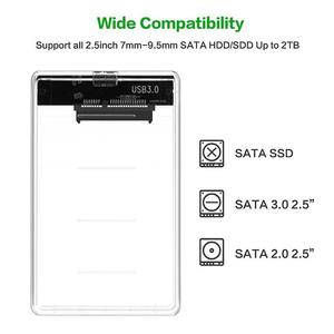 Image 5 - Caja de almacenamiento de disco duro transparente, USB 2,5, SATA, HDD, SSD, 3,0 pulgadas, SATA, Funda de disco duro, Caddy, 2TB