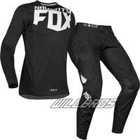 Free shipping 2019 Naughty Fox MX 360 Kila Jersey Pants Motocross Dirt bike MTB ATV Adult Racing Black Gear Set