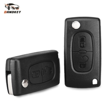 Dandkey Replacement 2 Button Remote Flip Folding Key Shell For Peugeot 207 307 308 407 807 CE0536 Car Key Case Cover