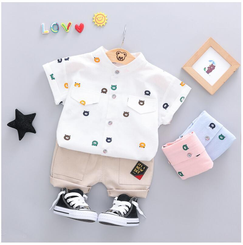 Summer Baby Cartoon T Shirt Shorts 2pcs sets Boys Girls Clothes Infant Cotton Clothes Kids Fashion Clothing Children Tracksuits in Clothing Sets from Mother Kids