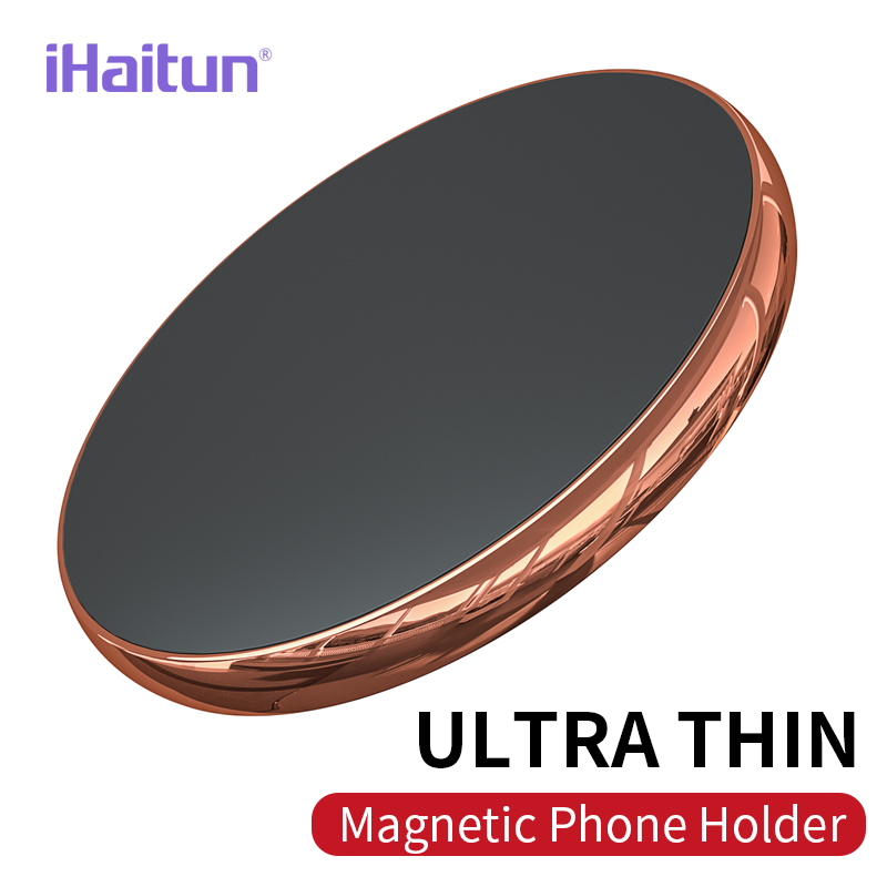 IHaitun Magnetic Mobile Phone Holder Stand For IPhone XS MAX XR Car Mount Phone Stand Tablet For Xiaomi Samsung Wall Flat Stick