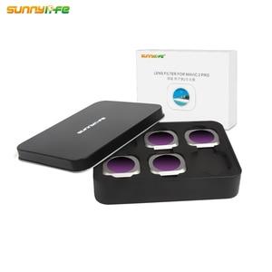 Image 5 - Sunnylife 4 teile/satz DJI MAVIC 2 PRO Drone ND8 PL ND16 PL ND32 PL ND64 PL Objektiv Filter