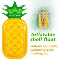 Inflatable Pineapple Air Mattresses Water Row Floating Cushion Bed Lifebuoy Swimming Ring Floats Raft Summer Fun Water Sports