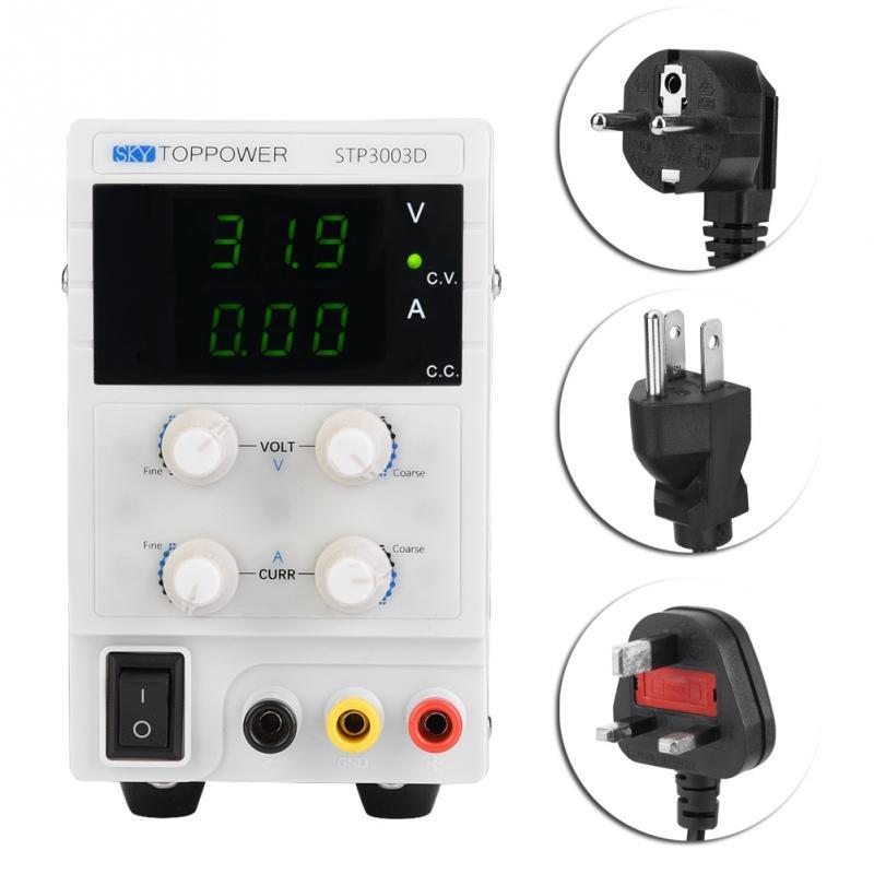STP3003D 3 LED DC Voltage Regulator Power Supply Adjustable 0 30V 0 3A 110 220V High