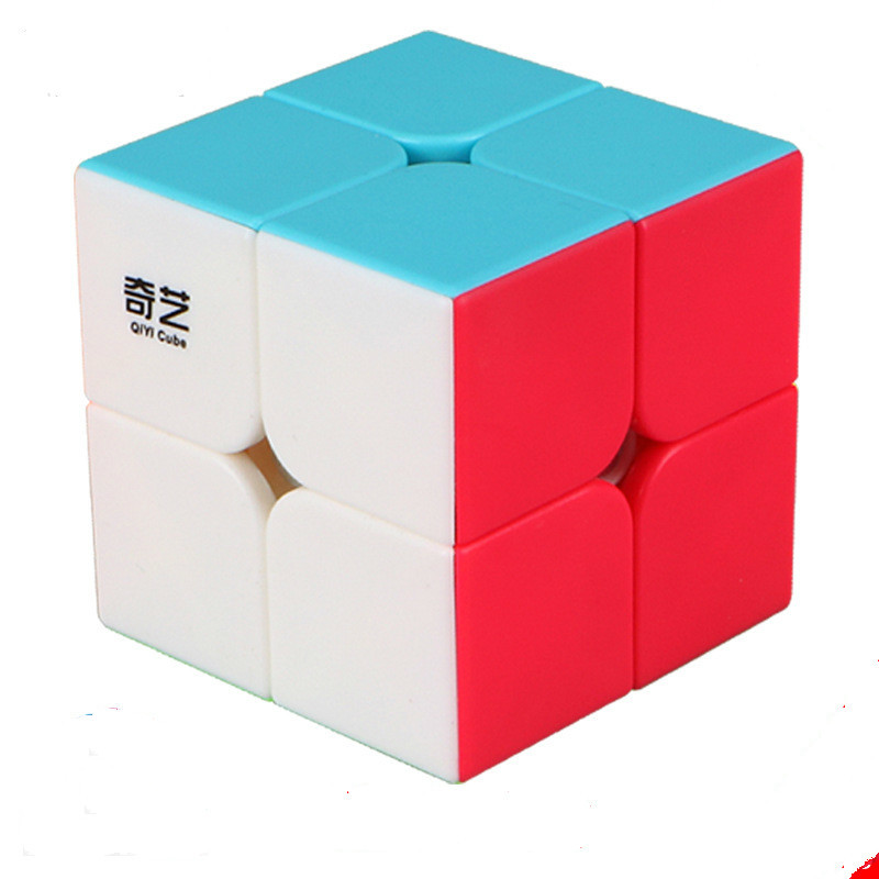 Qiyi 2x2  Cube Professional Speed Puzzle Training Brain Toys Gifts For Children Fidget Spinner Moondrop Factory Plastic