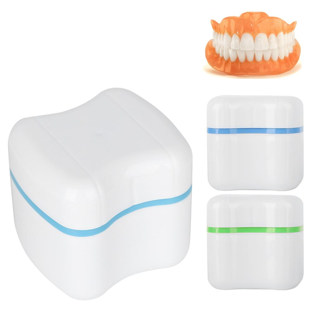 3 Colors Denture False Teeth Storage Box Case With Filter Screen Dental Appliance