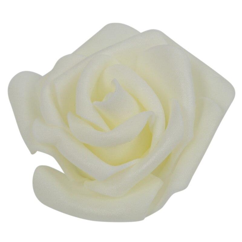 100 PCS Schaum Rose Blume Knospe Hochzeit Party Dekorationen Künstliche Blume Diy Handwerk Creamy Weiß