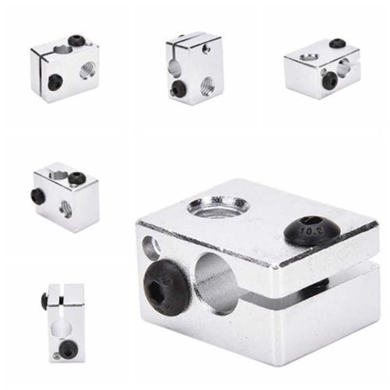 Imprimante 3D bloc de chaleur V6 pour V5 V6 j-head extrudeuse en Aluminium HotEnd imprimantes 3D pièces chauffantes accessoires de chauffage à extrémité chaude