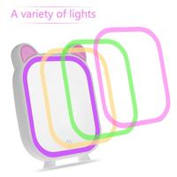 LED Lamp Makeup Mirror 3 Modes Adjustable Tabletop Cosmetic Mirrors with Smart Music Bluetooth Speaker With Light Lamp