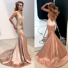 Sexy Backless Mermaid Evening Dresses Long 2019 vestidos de fiesta de noche Spaghetti Straps Formal Women Party Prom Dress 2019 women chiffon prom dresses off shoulder formal party gowns vestidos de fiesta de noche