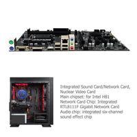 H81 BTC Motherboard 6 GPU Mining LGA1150 CPU DDR3 Memory High Speed USB3.0 Ports Computer PC Mainboard Motherboard High Quality