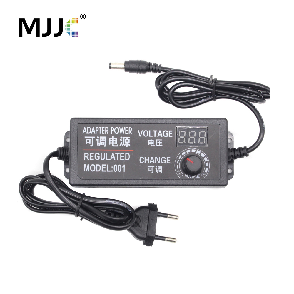 <font><b>AC</b></font> <font><b>DC</b></font> Regulated Power Adapter <font><b>3V</b></font> 9V <font><b>12V</b></font> 24V Voltage Adjustable Switching Power Supply 2A 3A 5A LED Transformer Voltage Regulator image