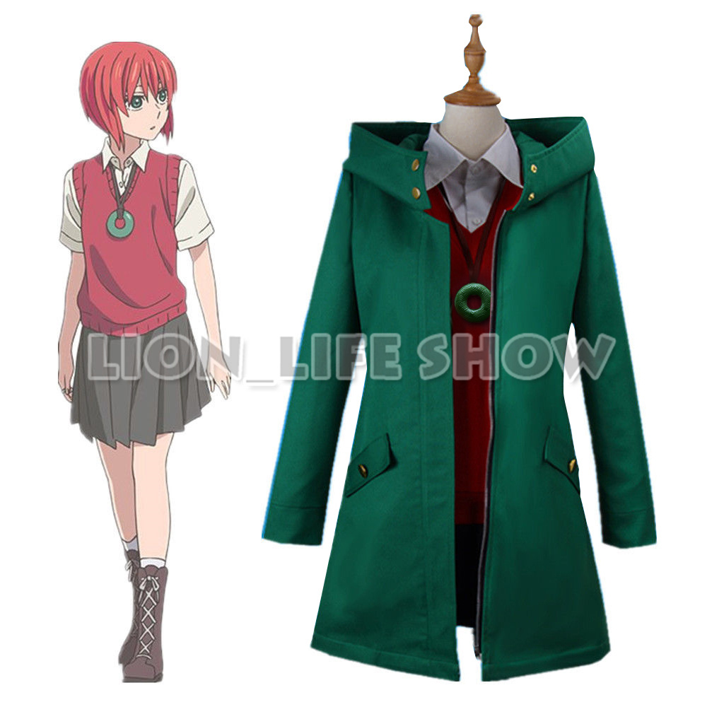 Mahoutsukai no Yome Chise Hatori Suit Jacket Green Coat Cosplay Costume Full Set