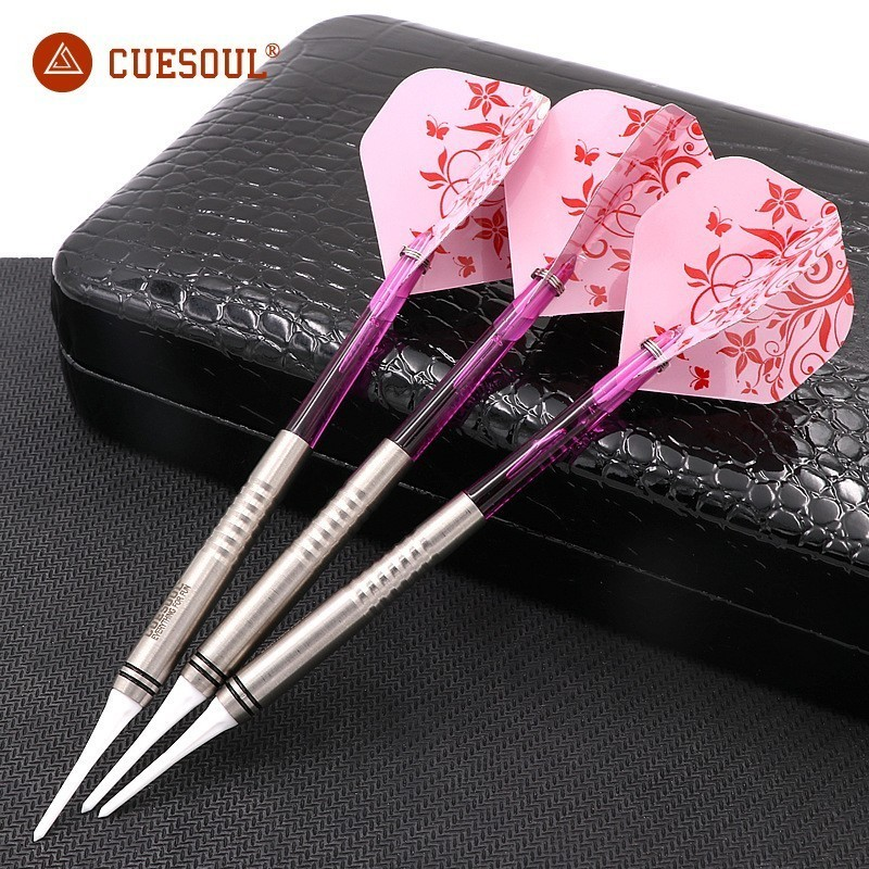 3PCS CUESOUL Tungsten Darts 18g 14.5cm Darts Professional Game Soft Tip Darts With Nylon Shafts Indoor Dartboard Games Plink cuesoul 90% tungsten darts 20g 14cm darts professional game soft tip darts electronic darts nylon shafts