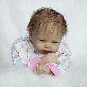 Image 5 - Bebe Reborn 22 дюймов куклы реборн Мягкие силиконовые виниловые куклы 55 см Reborn Baby Doll новорожденный реалистичный младенец Reborn кукла подарок на день рождения