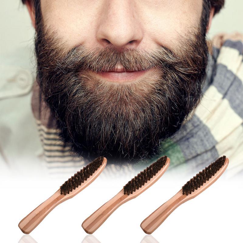 Men's Beard Brush Message Natural Bamboo Boar Bristle ...