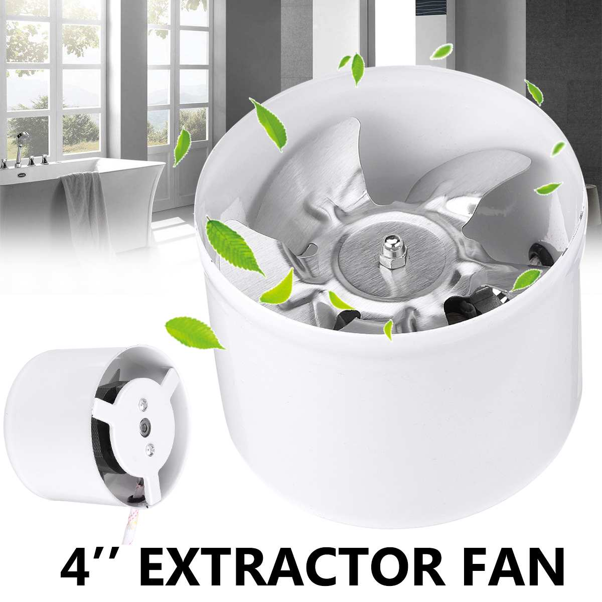 25W 4 inch <font><b>duct</b></font> <font><b>fan</b></font> air ventilator metal pipe ventilation exhaust <font><b>fan</b></font> mini extractor bathroom <font><b>fan</b></font> wall <font><b>fan</b></font> <font><b>100mm</b></font> 220V image